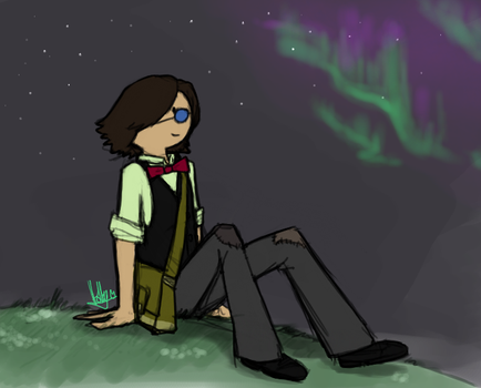 Reverseworld AU - Simon staring in the sky by CommanderMs