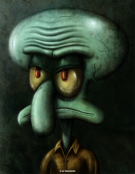 Squidward Tentacles by Fluorescentteddy