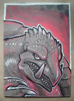 Gamera ink drawing by missmonster