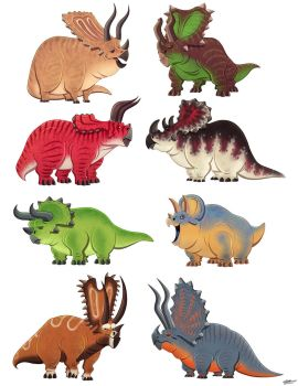 CERATOPSIANS SKETCHES by GrievousGeneral