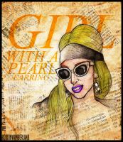 GIRL WITH A PEARL EARRING (GAGA VERSION) by RoudInWonderland