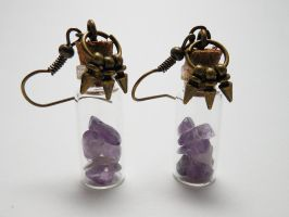 Elder Scrolls Soul Gem Fragments Earrings by LadyMudkip