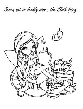 gluttony coloring pages | Not-so-Deadly Sin Fairies by JadeDragonne on DeviantArt