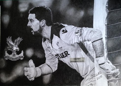 'Julian Speroni' - 2015 - (A4 drawing) by Stevegillettart