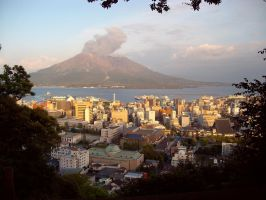 Overlooking Kagoshima by august-fehrmont