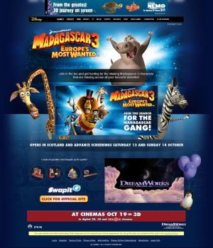 Madagascar 3 Competition Page by ChubbaART