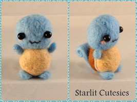 Needle Felted Chibi Squirtle!
