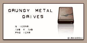 Grungy Metal Drives by elshaddai