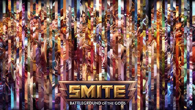 SMITE - All Gods Lines Wallpaper (with Chiron) by Getsukeii