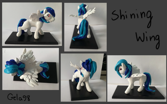 Pony sculpture- Shining Wing by Gela98
