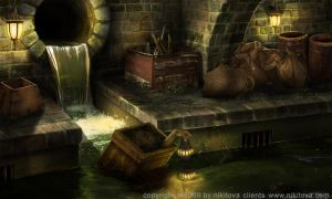 Sweeney Todd Sewer by Katie-Watersell